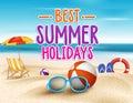 Summer Holidays In Beach Seash...
