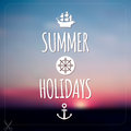 Summer Holidays Card. Blurry V...