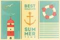 Summer Holidays Card Royalty Free Stock Photo