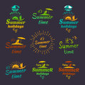 Summer holidays design calligraphy elements. Vector set