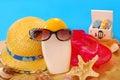Summer holidays equipment Royalty Free Stock Photo