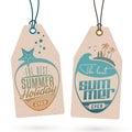 Summer Holidays Hang Tags
