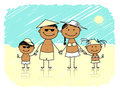 Summer holidays. Happy family on the beach Royalty Free Stock Image