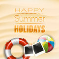 Summer holidays poster happy Royalty Free Stock Photos
