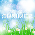 Summer holidays poster vector illustration this is file of eps format Stock Photo
