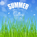 Summer holidays poster vector illustration this is file of eps format Royalty Free Stock Images