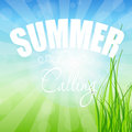 Summer holidays poster vector illustration this is file of eps format Royalty Free Stock Photo