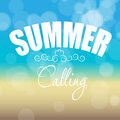 Summer holidays poster vector illustration this is file of eps format Stock Images