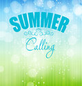 Summer holidays poster vector illustration this is file of eps format Stock Image