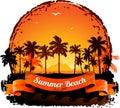 Summer Holidays Tropical Sunse...