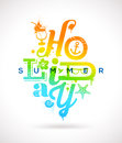 Summer holidays type design multicolored Stock Photography