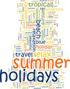 Summer holidays word cloud Royalty Free Stock Photography