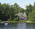 Summer home on a river Stock Photography
