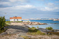 Summer home on swedish coast Royalty Free Stock Photos