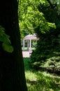 Summer house in spa park Stock Photos
