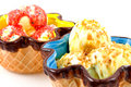 Summer ice cream in colored bowl Royalty Free Stock Photography
