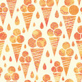 Summer ice cream cones seamless pattern background vector with delicious treats Royalty Free Stock Photography