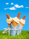 Summer Ice Creams Stock Images