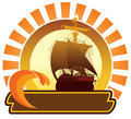 Summer icon - ship Royalty Free Stock Photography