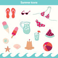 Summer Icon Vector Set