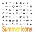 Summer icons iconsl vector illustration this is file of eps format Stock Image