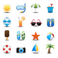 Summer icons this image is a vector illustration Royalty Free Stock Photo