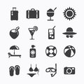 Summer icons set design icons for web design and infographic ve vector illustration Stock Photo