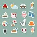Summer Icons set Royalty Free Stock Photo