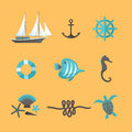 Summer icons set vector illustration eps contains transparencies Stock Image