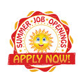 Summer jobs. Apply Now