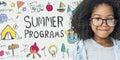 Summer Kids Camp Adventure Explore Concept Royalty Free Stock Photo