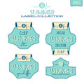 Summer label collection of related vintage labels Stock Photography
