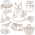 Summer lady's wear Royalty Free Stock Images