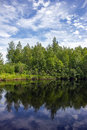 Summer landscape with river in the north of the republic of karelia russia Royalty Free Stock Photography