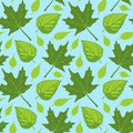 Summer Leaves seamless Royalty Free Stock Photo