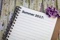 Summer 2017 list Royalty Free Stock Photo