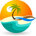 Summer logo Royalty Free Stock Photography