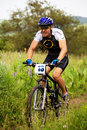 Summer mountain bike competition Royalty Free Stock Photo
