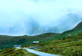 Summer mountain cloudy  landscape (Norway) Stock Photo