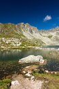 Summer mountain lake high tatras slovakia europe Stock Images