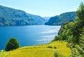 Summer mountain lake Suldalsvatn (Norway)