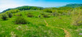 Summer mountain landscape in crimea panorama ukraine Royalty Free Stock Photography