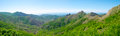 Summer mountain landscape in crimea panorama ukraine Royalty Free Stock Images