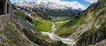 Summer mountain panorama from holzbodentunnel road warth vorarlberg austria Stock Images