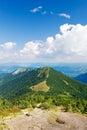 Letný horský hrebeň