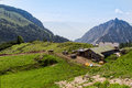 Summer mountains landscape rural scenic in the rofan mountains alps austria tirol Royalty Free Stock Images