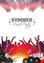 Summer Music Background with Instruments - Vector Royalty Free Stock Photo
