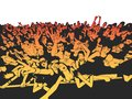 Summer music festival concert crowd, party people Royalty Free Stock Photo