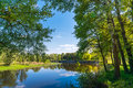 Summer nature with river. Royalty Free Stock Photo