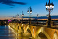 Summer night in Bordeaux Royalty Free Stock Photo
